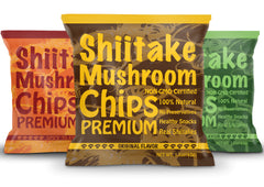 Yuguo Farms Shiitake Mushroom Chips, 1.5 oz, 12 bags, Variety Pack