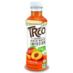 Treo - Peach Mango, Big Fruit Flavor, Low Sugar, Low Calorie, Organic Beverage, 16 Fl oz. (Pack of 12)