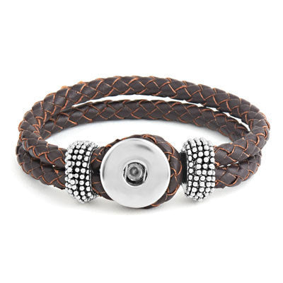 Ginger Snaps Double Plaited Bracelet - Brown