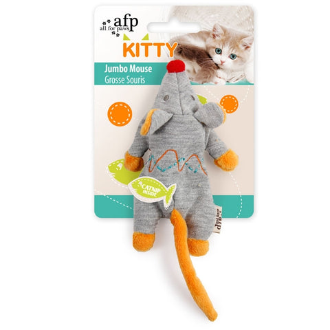 All For Paws Kitty Jumbo Mouse, Kitten Toy
