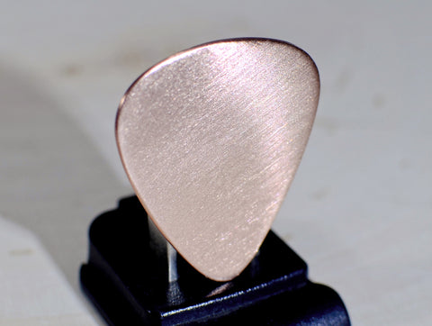 Guitar Pick Handmade from Copper and Ready for Your Personal Touches