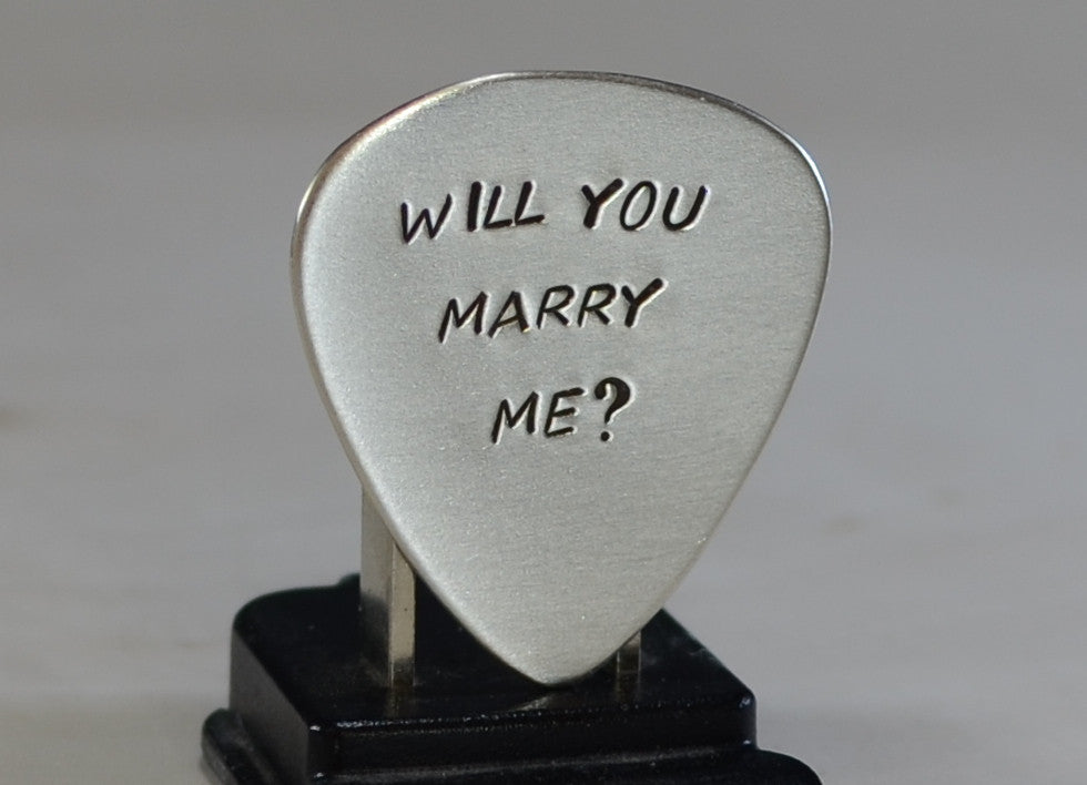 Guitar Pick Wedding Proposal