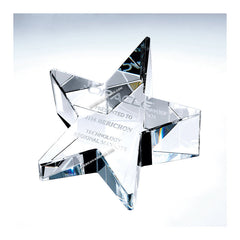 C606 Crystal Slant Star Paperweight:American Trophy & Award Company Los Angeles, CA