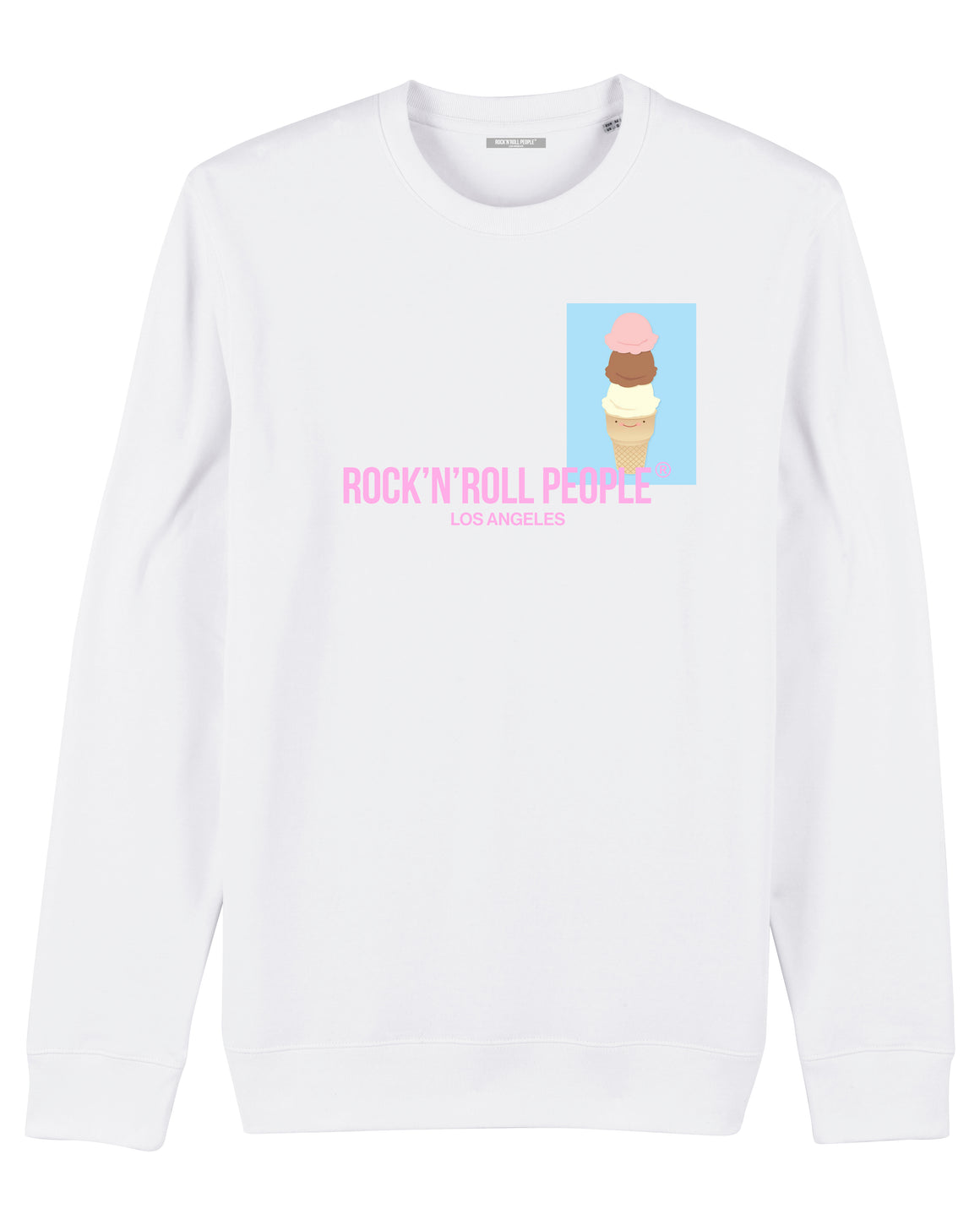 "UNISEX SWEATSHIRT ""THE CONE"" - WHITE"
