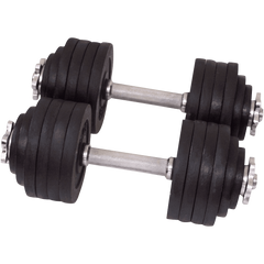 One Pair of Adjustable Dumbbells Cast Iron Total 105 Lbs