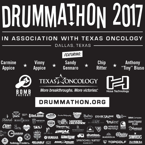 Breast Cancer Can Stick It! Drummathon 2017 T-shirt