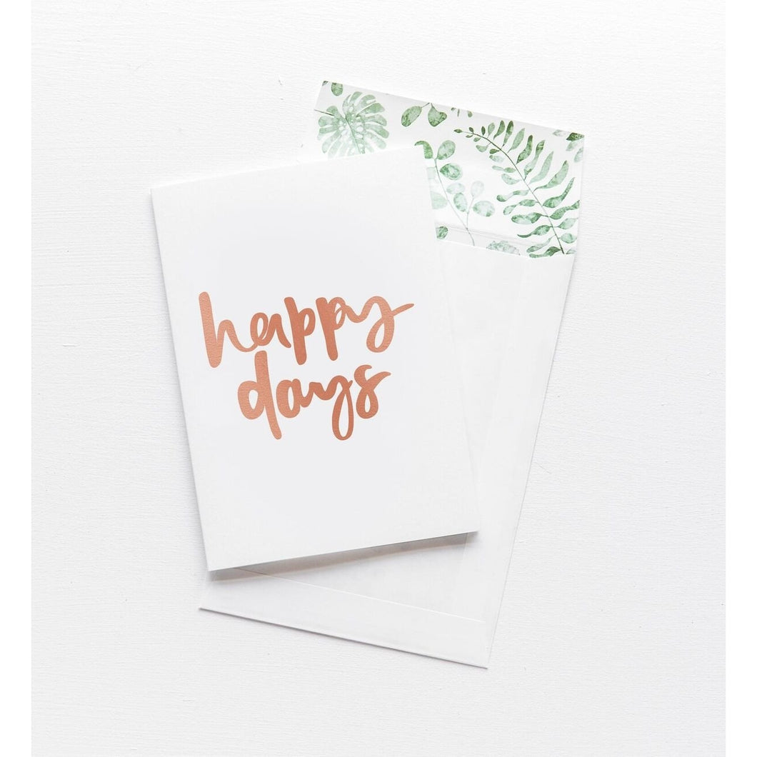 Greeting Card - Happy Days