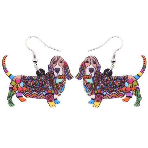 Beautiful Basset hound Earrings