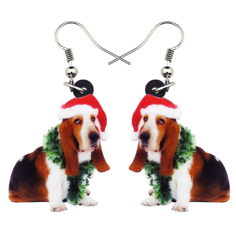 Adorable Basset hound Earrings