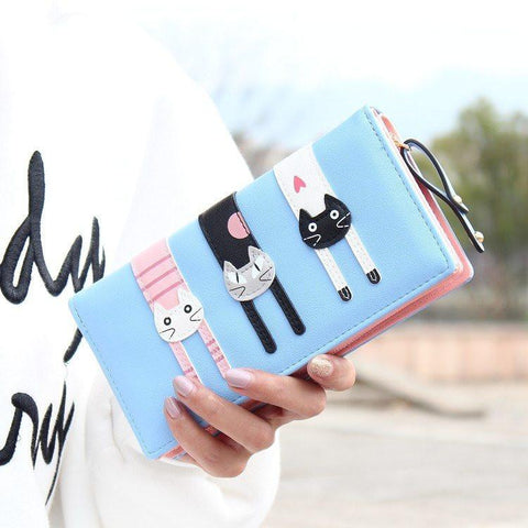 3 Little Cats Long Clutch & Wallet