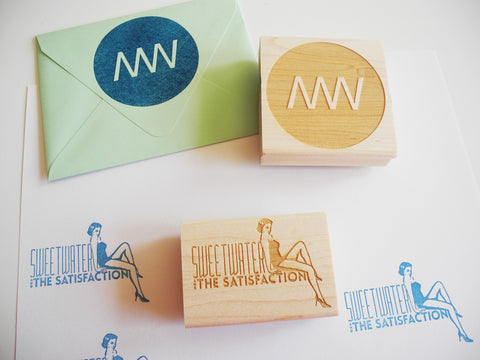 Custom Laser Engraved Rubber Stamp