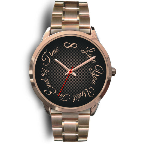 Love You Till The End Of Time Rose Gold Watch for Men or Women