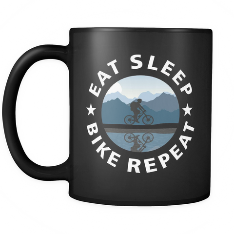 Eat Sleep Bike Repeat Coffee Mug