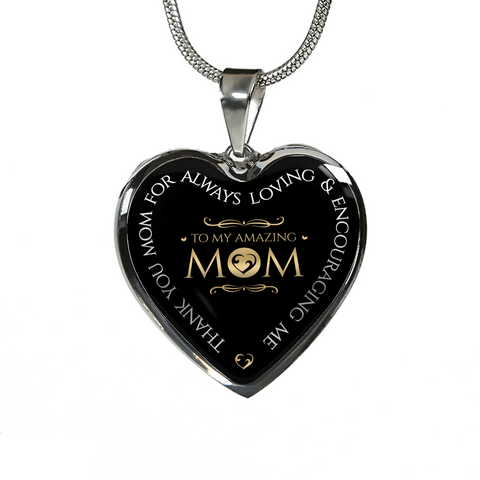 To My Amazing Mom Pendant Necklace