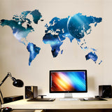 Blue World Map Wall Decal Sticker - Modern Decor  Sunny Shapes: Online Shopping for Furniture, Crafts, Home Decor...