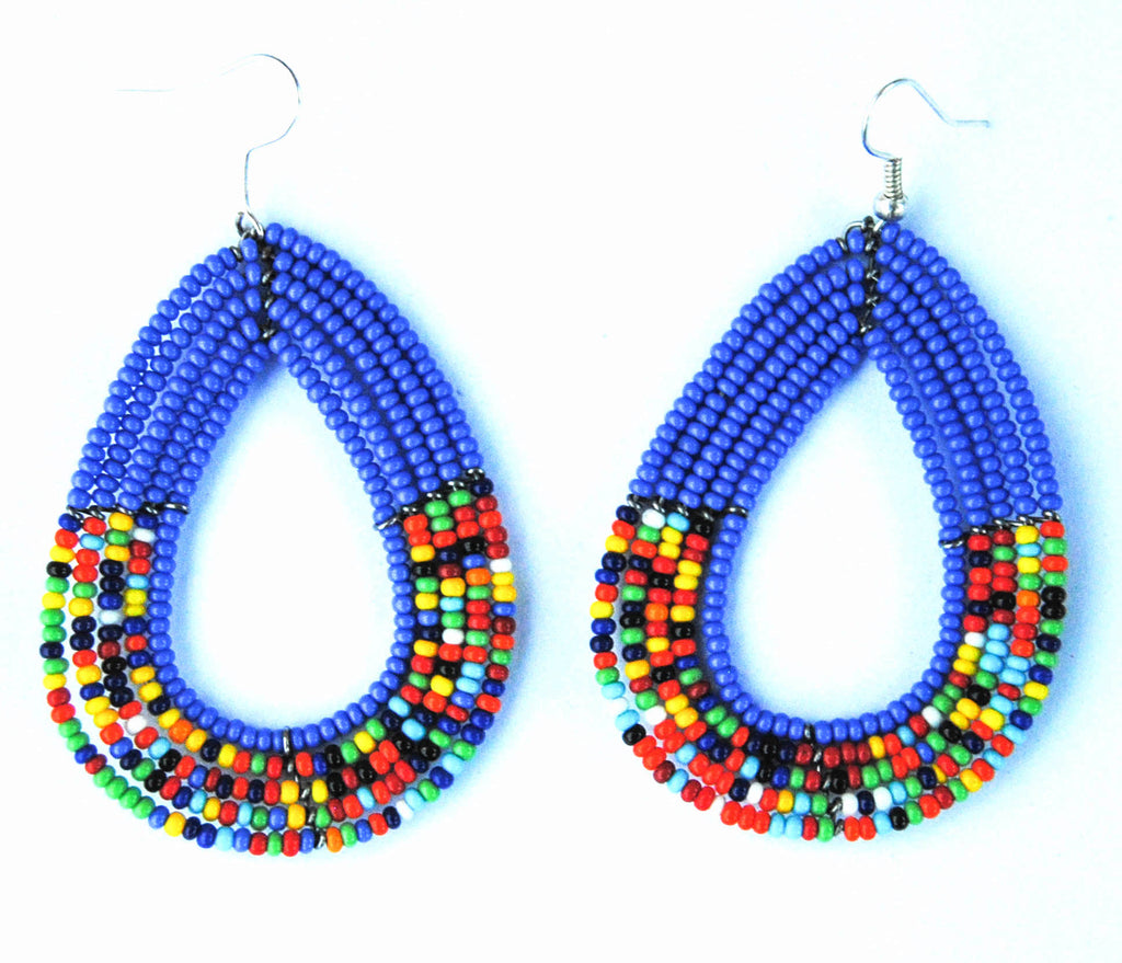 Blue Maasai Earrings