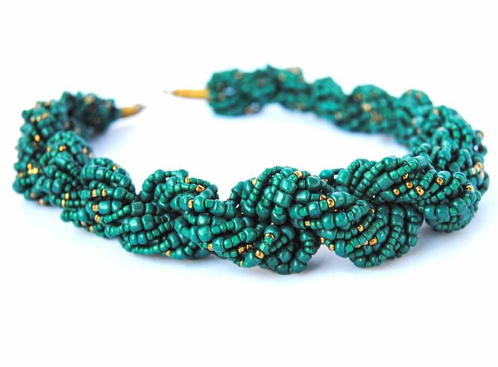Green and Gold Twist Necklace