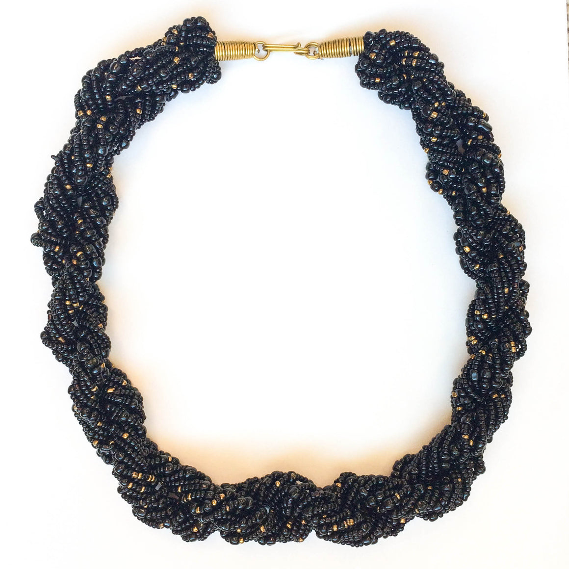 Black and Gold Twist Necklace