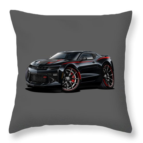 2017 Camaro Ss Car Art - Throw Pillow