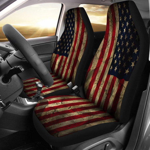 Aged American Flag Bucket Seat Covers