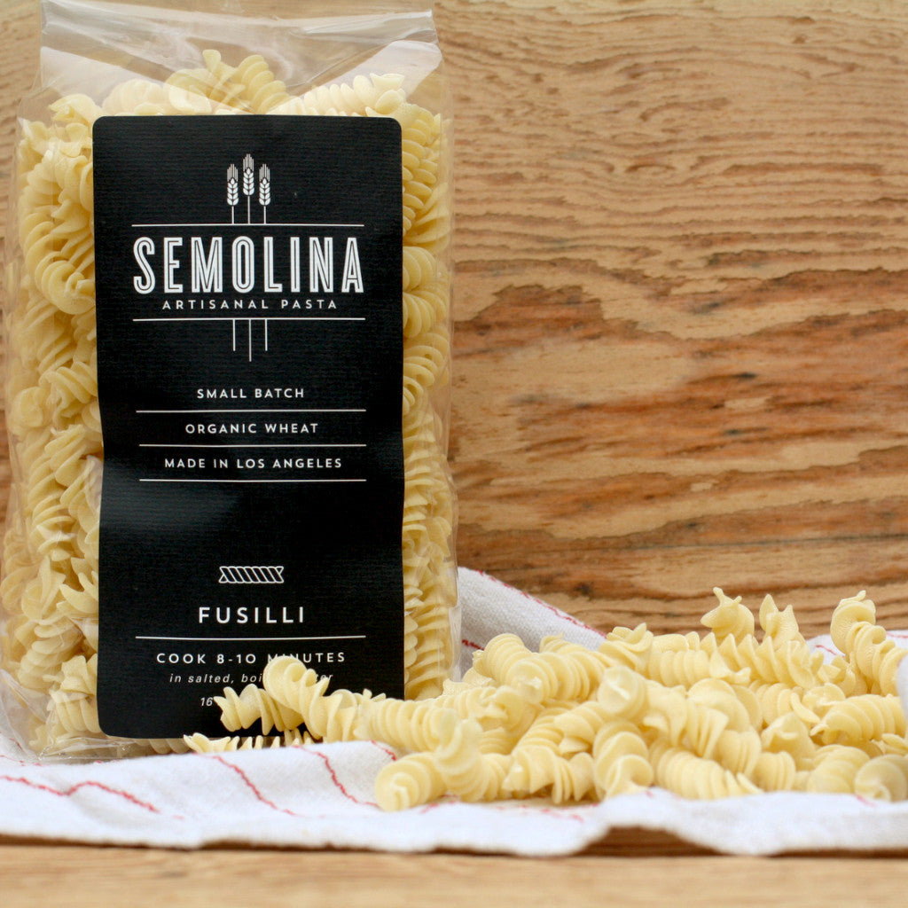Semolina Organic Dried Pasta Fusilli 16 OZ - Milk and Eggs - 1