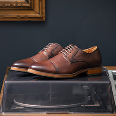 Florsheim Blaze Cap Toe Oxford in Cognac - Rainwater's Men's Clothing and Tuxedo Rental