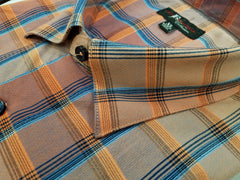 Jon Randall Collection Orange Plaid Sport Shirt - Rainwater's Men's Clothing and Tuxedo Rental