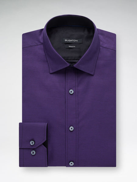 Bugatchi Plum Solid Classic Fit - Rainwater's Men's Clothing and Tuxedo Rental