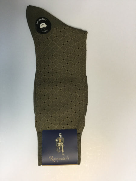 Rainwater's Mercerized Cotton Diamond Dot Dress Sock - Rainwater's Men's Clothing and Tuxedo Rental