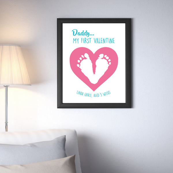 Canvas or Print, Daddy's Heart - Custom, Add your child's name and dad's favorite color!
