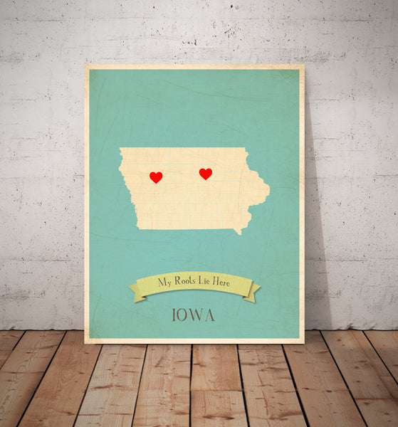 My Roots Personalized State Maps Prints, Educational, Playroom Decor