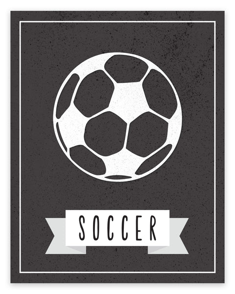 Canvas or Print, Sport Balls: Soccer, Pick Your Own Color!
