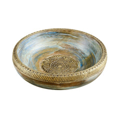 Rusticity Heavy Wood Decorative Serving Bowl | Handmade | (10 inch)