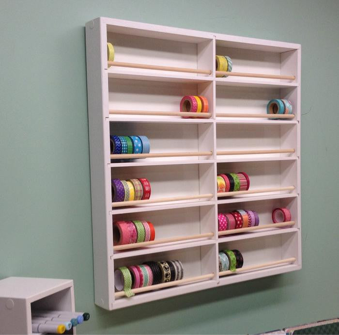 Washi Tape Organizer hanging on the wall. Main picture.
