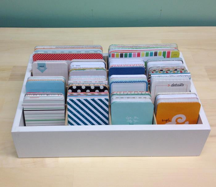 An above view photo of the entire Journaling Card Caddy- Standard.