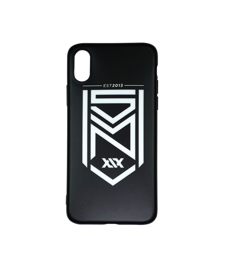 Crest Logo Matte Black iPhone Case