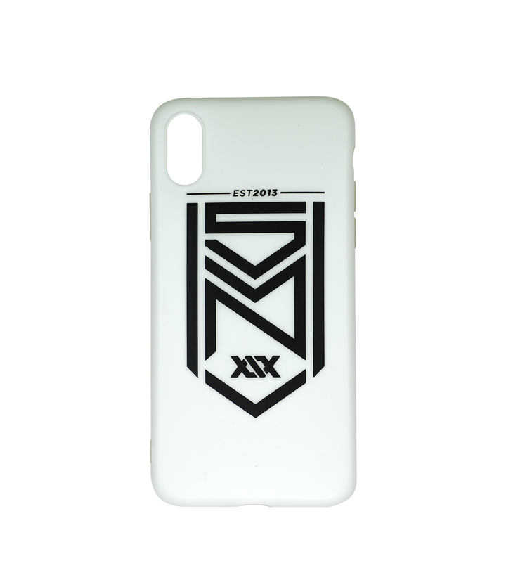 Crest Logo Matte White iPhone Case