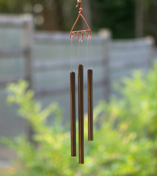 Wind Chime Glass Copper Outdoor Handmade Chimes