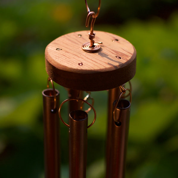 Windchime Natural Pacific Driftwood Large Copper Chimes Wind Chime