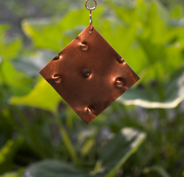 Windchime Sea Glass Cedar with Large Copper Chimes