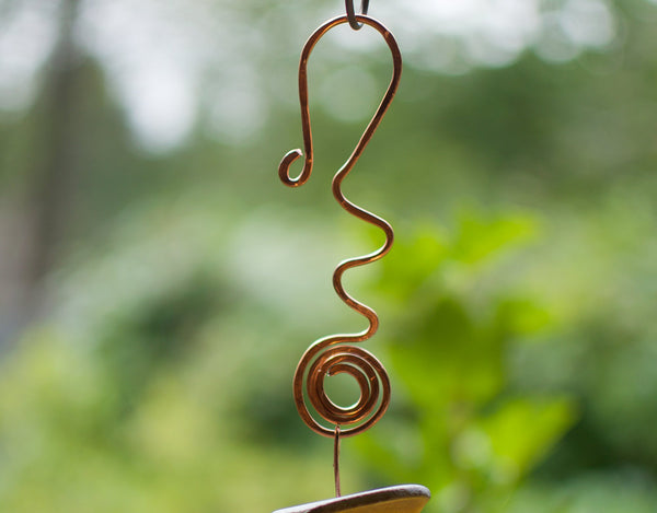 Outdoor Colourful Sea Glass Copper Wind Chime