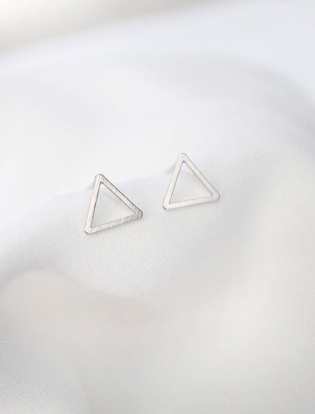 sterling silver open triangle earrings