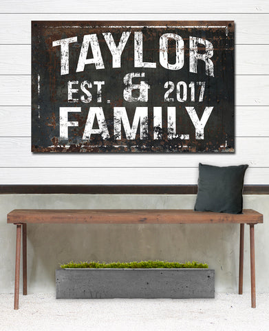 Customized Outdoor Sign for Porch Space - Black Metal Family Name Sign - Backyard Sign