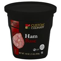 "Custom Culinary Master's Touch Ham Base ""MEAT FIRST"" No MSG Added - 1 lb. Jar (#0741012001)"