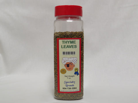 Specialty Brands Thyme Leaves - 7 oz. Jar (#3045-6)