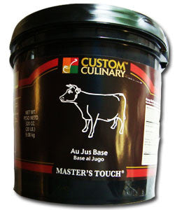 Custom Culinary Master's Touch Au Jus Base - 20 lb. Pail (#1723001020)