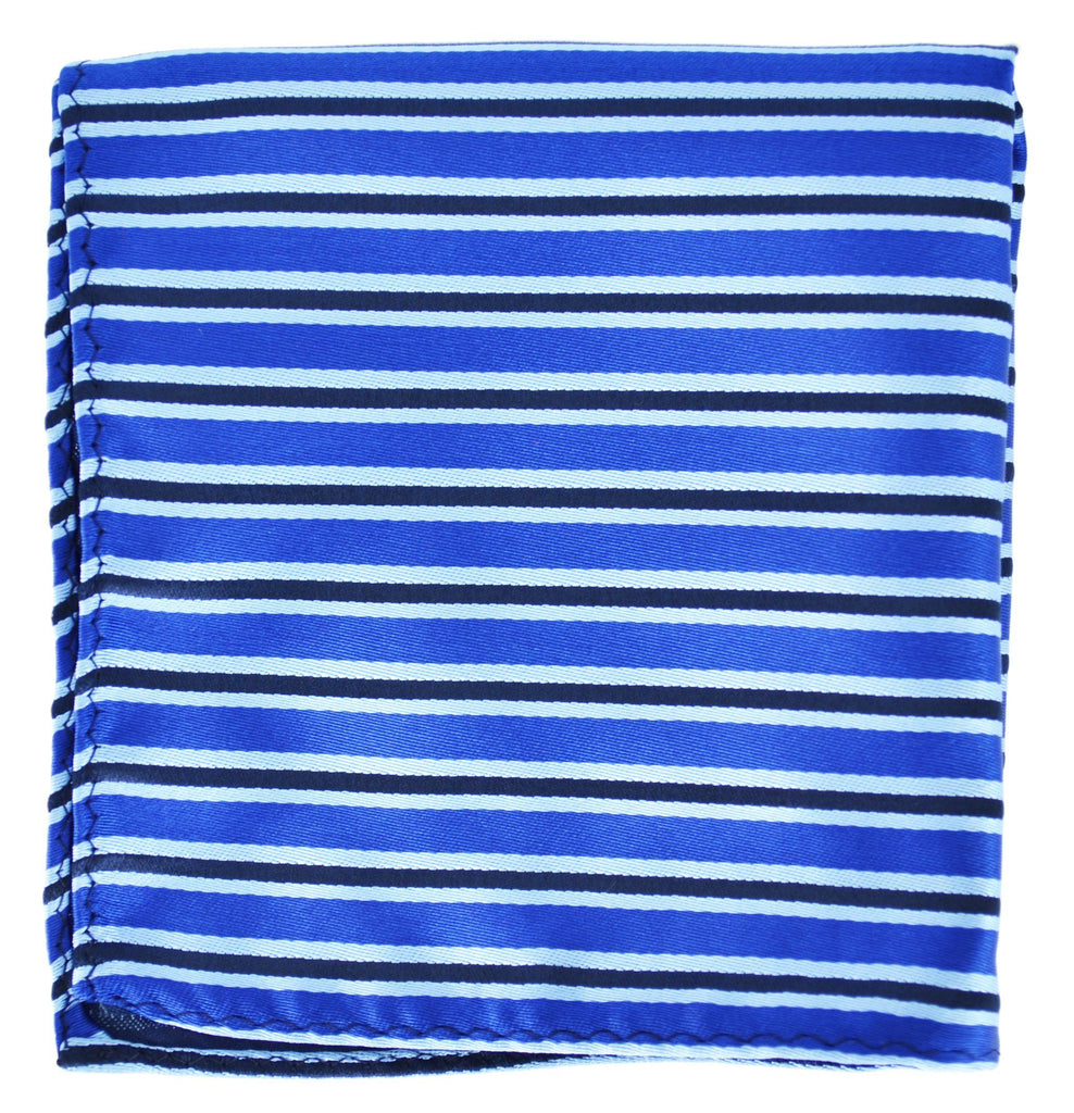 Extra Long Royal Blue and Black Striped Tie BerlinBound Ties - Paul Malone.com