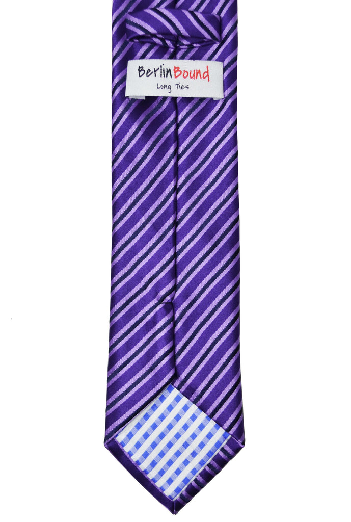 Extra Long Imperial Palace Purple Striped Tie BerlinBound Ties - Paul Malone.com