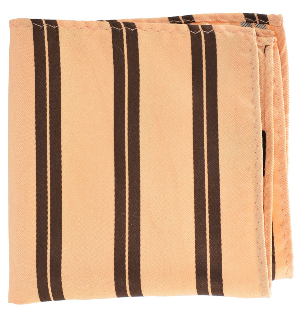 Extra Long Peach and Brown Striped Tie BerlinBound Ties - Paul Malone.com