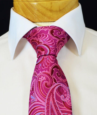 Extra Long Turquoise Floral Men's Tie